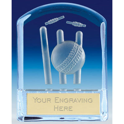 Precision Curved Top Glass Cricket Award 11.5cm (4 1/2