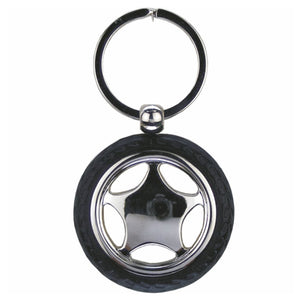 KR902 CAR WHEEL KEY RING WITH TYRE