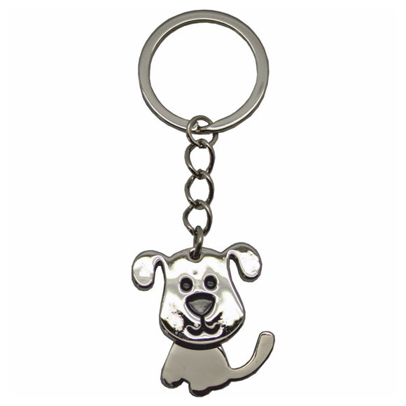 KR950 NODDING DOG METAL KEY RING  rjsmith-son.co.uk
