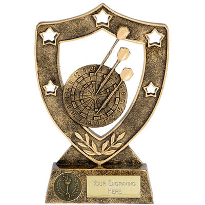 Star Gold Shield Darts Trophy