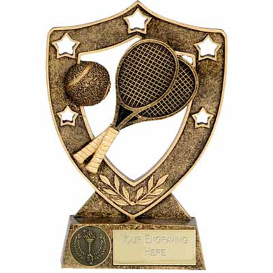Gold Star Shield Tennis Trophy  rjsmith-son.co.uk
