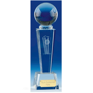 "Unite Cricket Crystal Award 22cm (8.5"")"