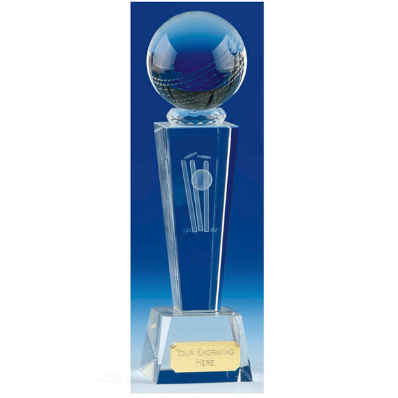 Unite Cricket Crystal Award 22cm (8.5