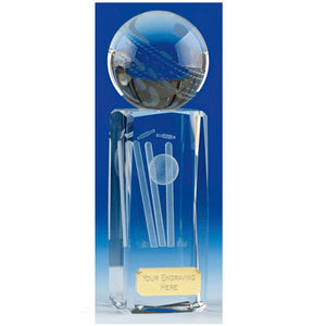 "Saturn Crystal Cricket Award 17cm (6 3/4"")"