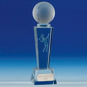 "Unite Female Tennis Flared Column Optical Crystal Award 21.5cm (8 1/2"")"