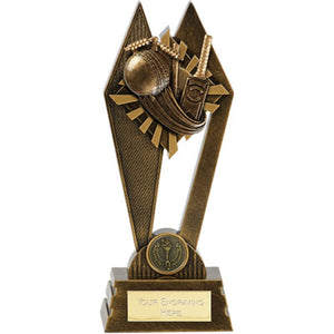 Peak Gold Bat & Ball Cricket Trophy