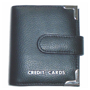 CREDIT CARD HOLDER WITH TAB BLACK