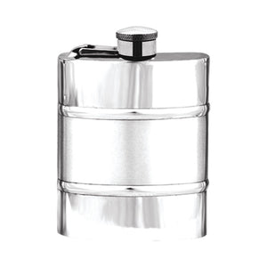 6oz Captive Top Pewter Flask