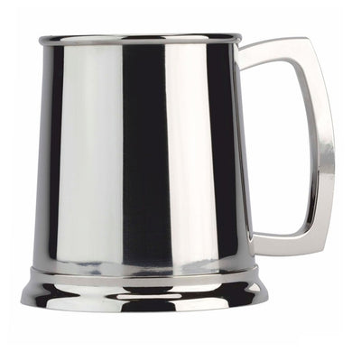 SSTC01 PLAIN ONE PINT POLISHED STAINLESS STEEL TANKARD