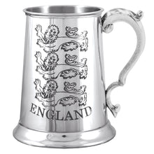 1 Pint England 3 Lions Pewter Tankard TS361