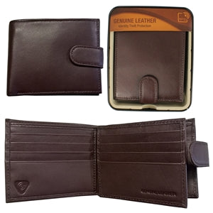 RFID SHEEP LEATHER WALLET IN TIN BROWN WAI006B