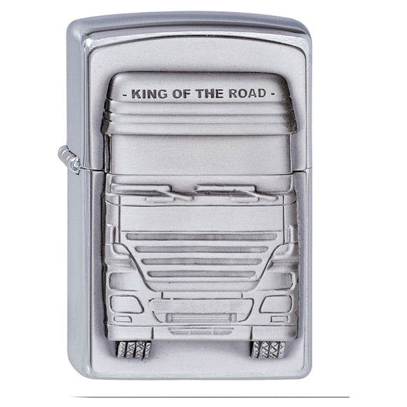 Z1300176 ZIPPO BRUSHED CHROME KING OF THE ROAD LIGHTER