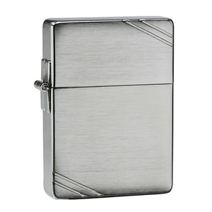 Z1935 ZIPPO BRUSHED CHROME LIGHTER 1935 REPLICA WITH SLASHES