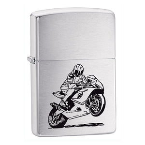 Z200BIKE ZIPPO BRUSHED CHROME LIGHTER MOTORCYCLE