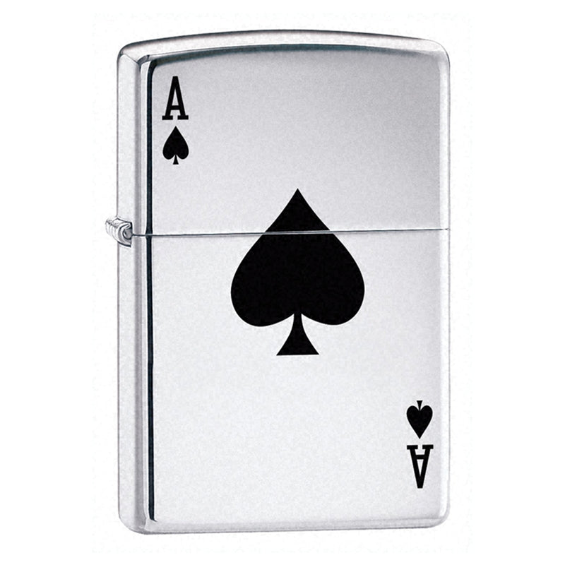 Z24011 ZIPPO HIGH POLISHED CHROME LIGHTER LUCKY ACE