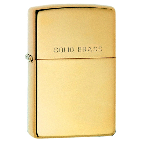 Z254 ZIPPO HIGH POLISHED BRASS LIGHTER STAMPED SOLID BRASS