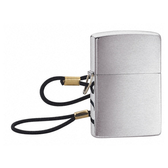 Z275 ZIPPO BRUSHED CHROME LIGHTER LOSSPROOF WITH LOOP & LANYARD