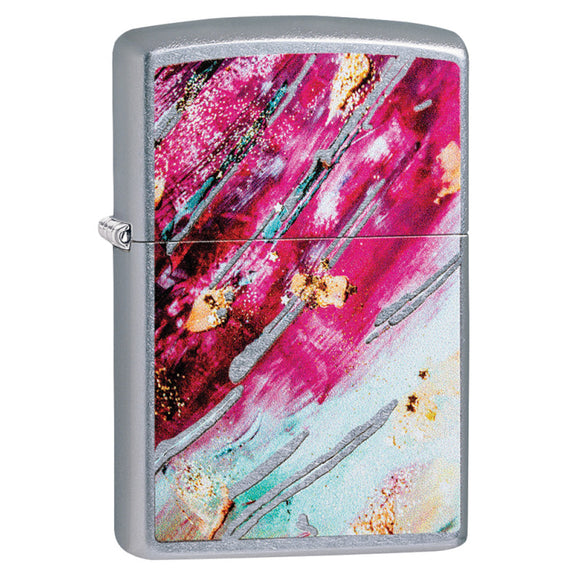 Z29875 ZIPPO LIGHTER STREET CHROME, RUST PATINA DESIGN 4