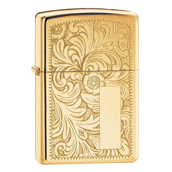 Z352B ZIPPO HIGH POLISHED BRASS LIGHTER VENETIAN