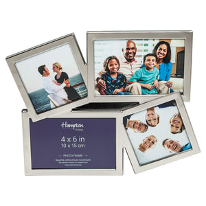 Accent 4 Aperture Nickel Plate Photo Frame