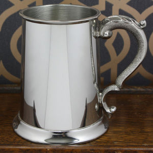 1 Pint Plain With Georgian Handle Pewter Tankard EP172