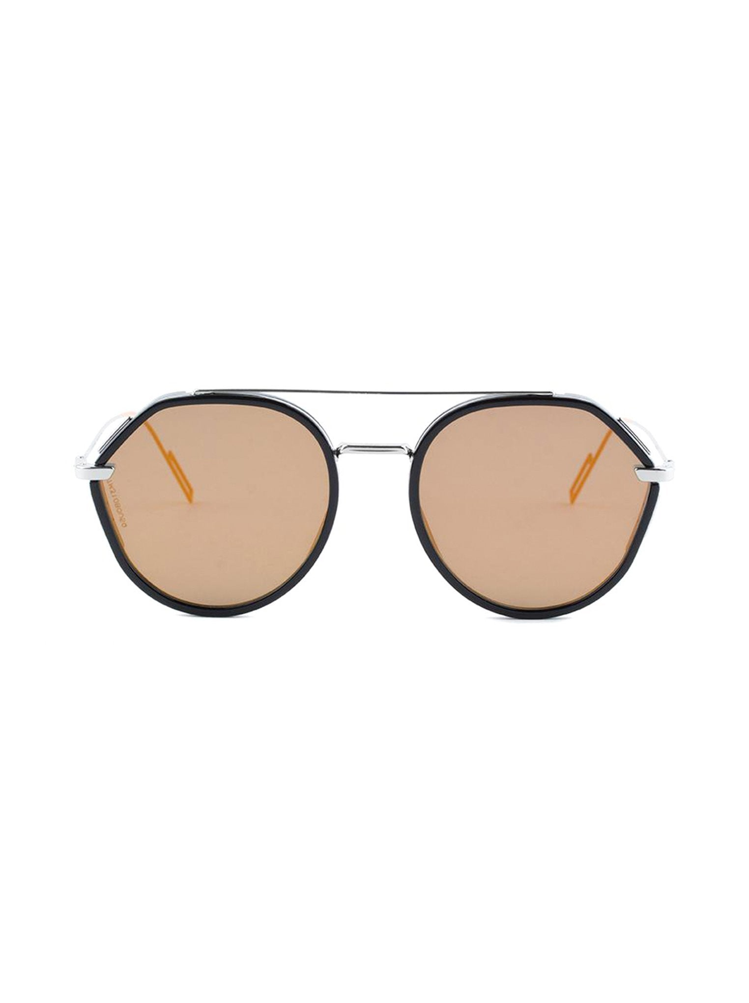 abf98a0a3ff61 Dior - 0219S Round Aviator Sunglasses - Black Palladium   Orange Mirrored -  ForwardModa