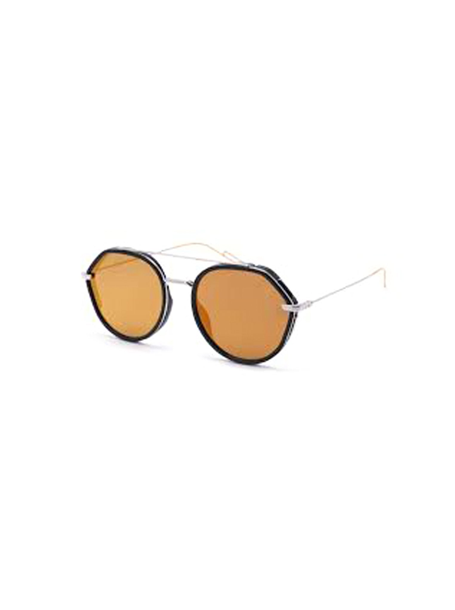 b09d041acce1 Dior - 0219S Round Aviator Sunglasses - Black Palladium   Orange Mirrored -  ForwardModa