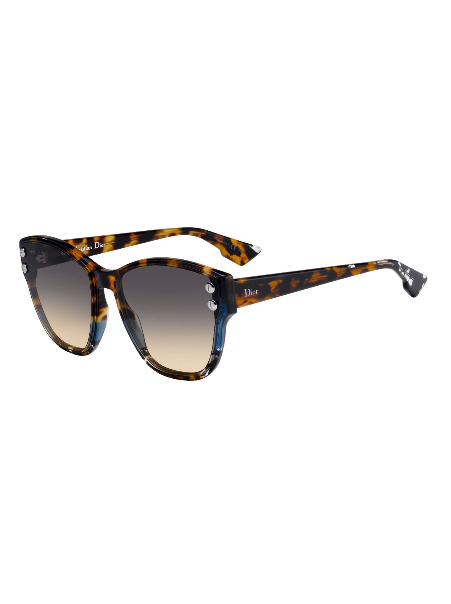 7d2072d1add19 Dior - Addict3 Sunglasses - Blue Havana   Black Brown Green - ForwardModa