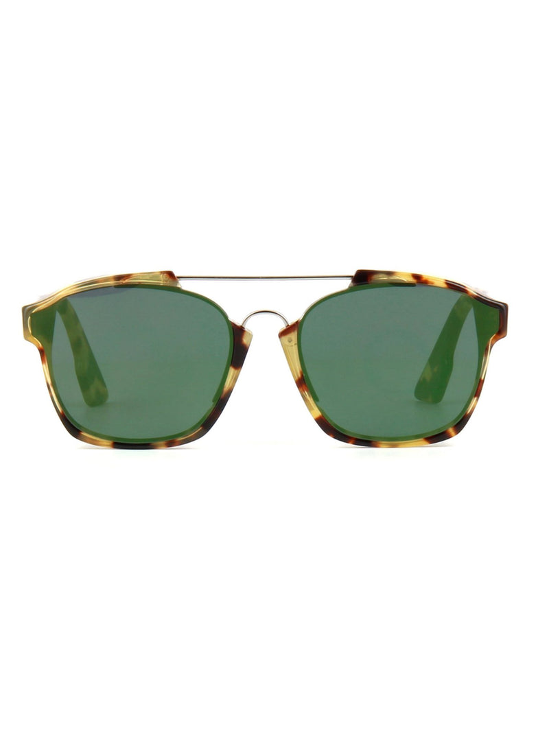26414d4195777 GG0158S-005 Square Sunglasses - Havana Green Red   Brown – ForwardModa
