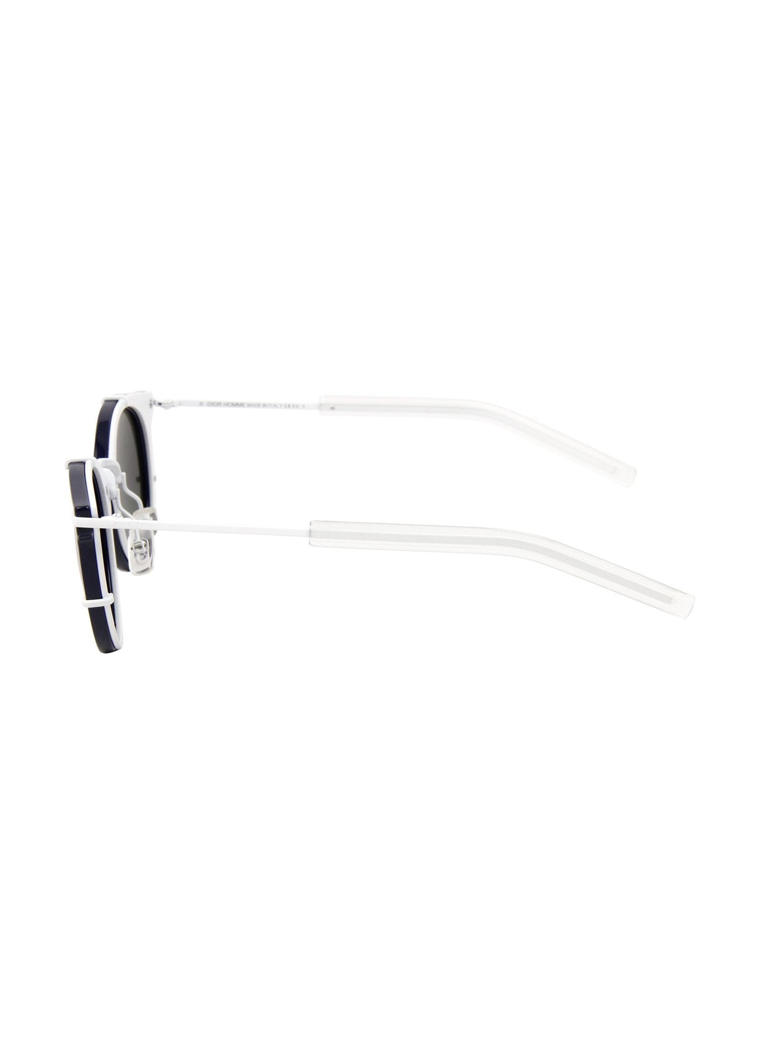 7c09a2de7fb3e Dior - 0196S Round Sunglasses - Blue Matte White   Extra White Mirrored -  ForwardModa