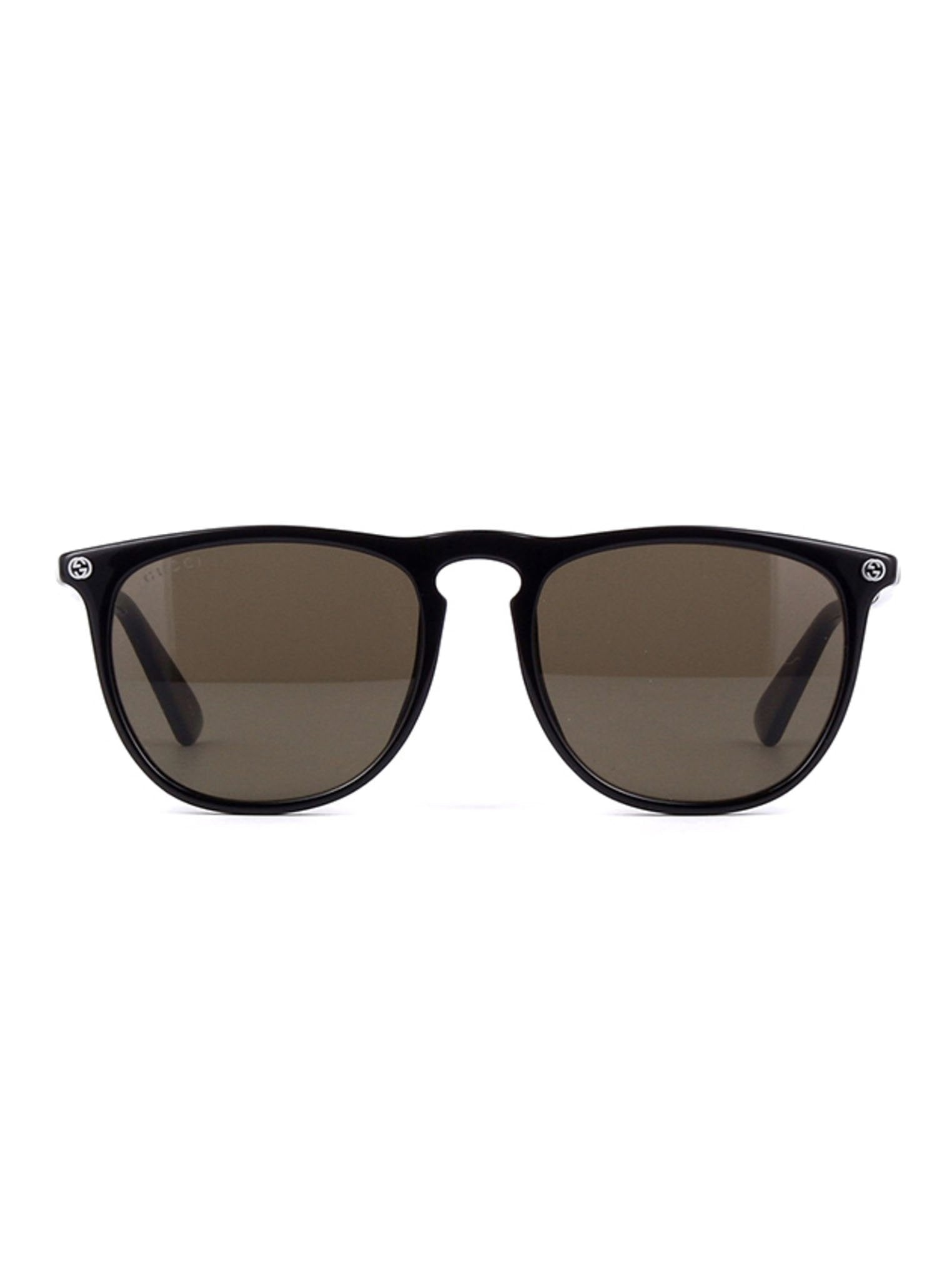 517be52f80e77 GG0120S-001 Square Sunglasses - Black   Brown – ForwardModa
