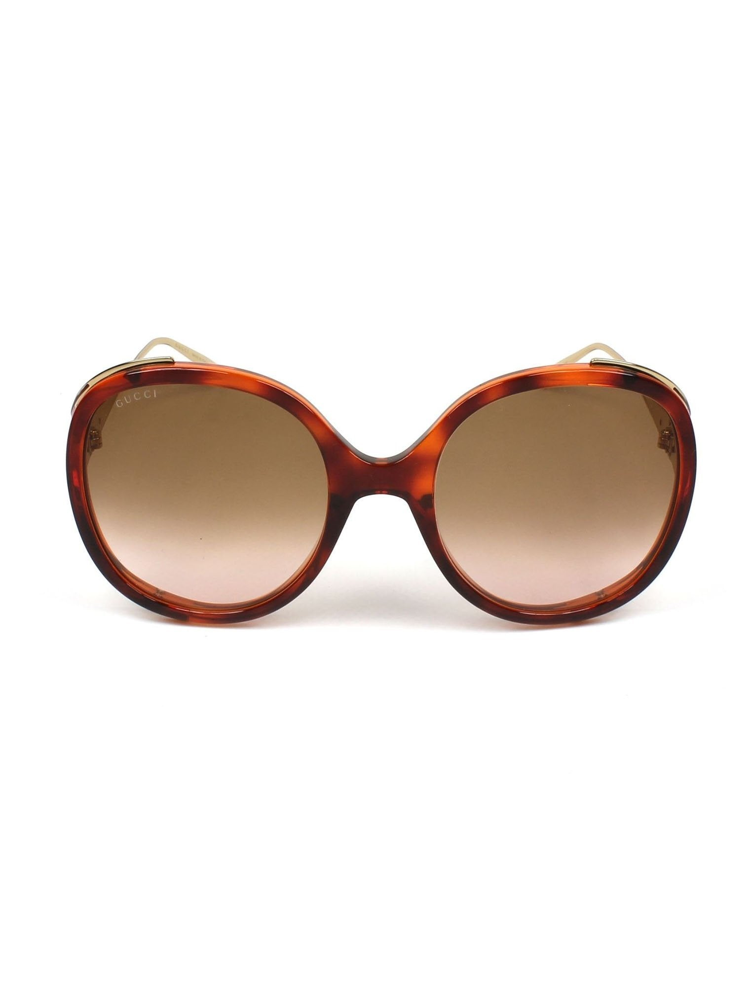0bbc3a98ace GG0226S-005 Round Sunglasses - Havana   Gold   Light Brown Gradient ...