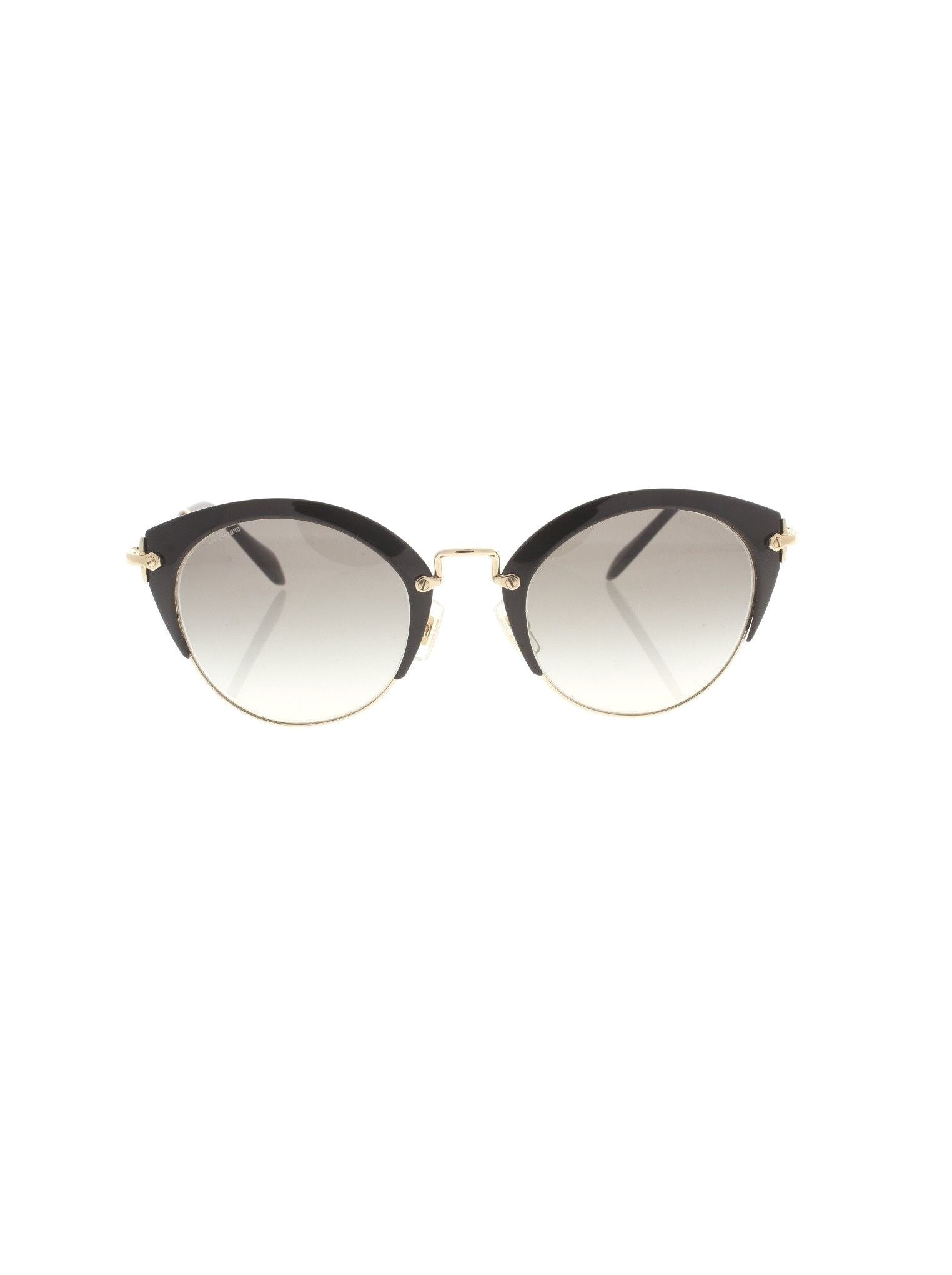a91b3de5567 Miu Miu - Cat Eye SMU 53R 1AB-0A7 Sunglasses - Matte Black Gold