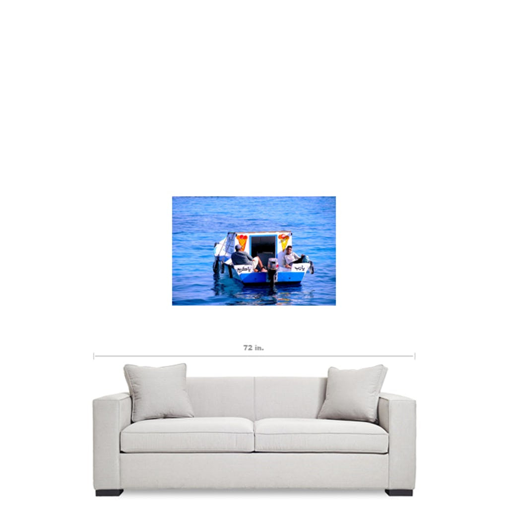 Ocean Boat Ice-Cream sellers - Poster - Gyclée Paper Print - Wall Art - Art Beauty Fashion