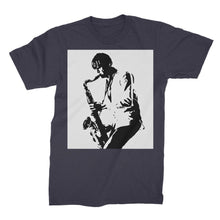 Unisex Jazz Saxophon man Fine Jersey T-Shirt - Art Beauty Fashion