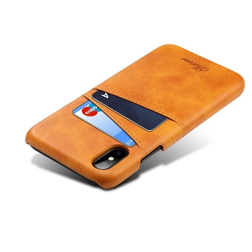 Leather iPhone X Card Case - Art Beauty Fashion