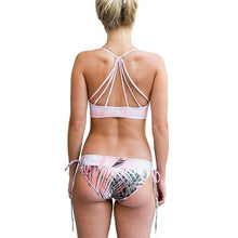Sea Gypsy Bikini ~ Neon Palm Coral - Art Beauty Fashion