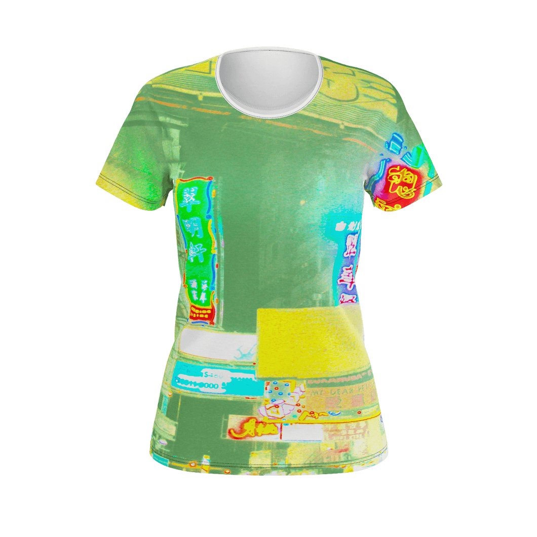 Hong Kong Street Study Designer T-Shirt - Art Beauty Fashion