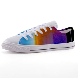 Colored Fashion Designer - Low-top canvas shoes - Art Beauty Fashion