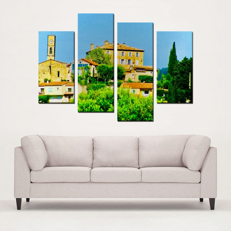 South of France - Opio - Style Study 4 Panels Canvas Prints Wall Art for Wall Decorations - Art Beauty Fashion