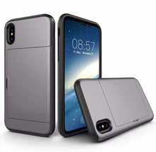 Shockproof  Armor iPhone X Card Slot Case - Art Beauty Fashion