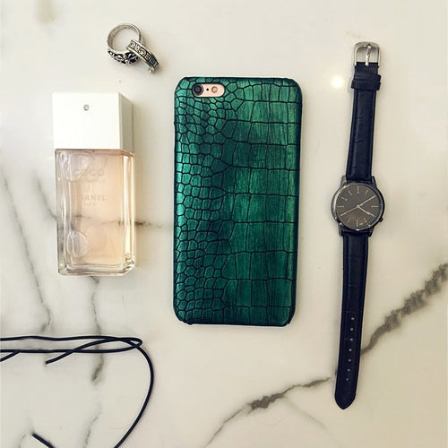 Blackish Green Crocodile iPhone Case - Art Beauty Fashion