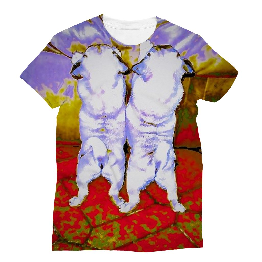 Sweet Pugs - Sublimation T-Shirt - Artphotography - NEW