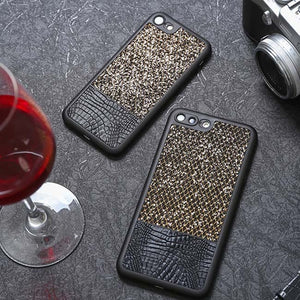 Luxury Glitter Leather Case For iPhone - Art Beauty Fashion