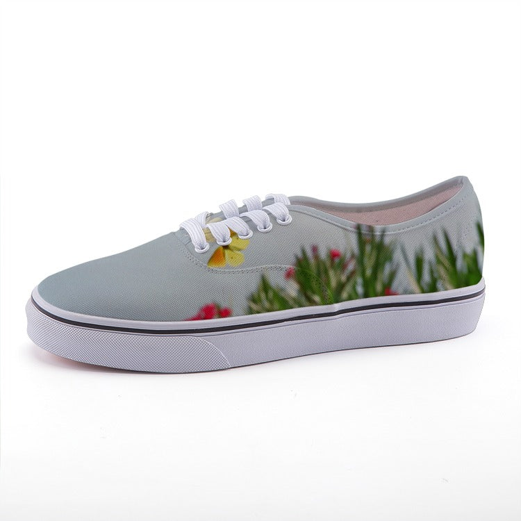 Romantic Sweet Butterflies Designer - Low-top fashion canvas shoes - Art Beauty Fashion