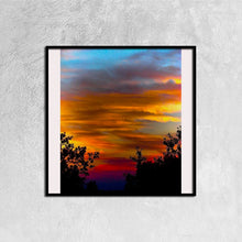 Sunrise Study - Canvas Prints Wall Art for Home Decorations Stretched Black Square Frame Ready to Hang, 12ⅹ12 inch - Art Beauty Fashion