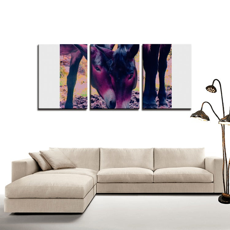 Horses in Love - 3 Panels Canvas Prints Wall Art for Wall Decorations - Art Beauty Fashion