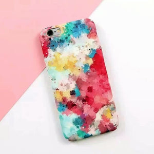 Watercolor Pattern Case For iPhone - Art Beauty Fashion