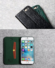 Blackish Green Crocodile Wallet Case - Art Beauty Fashion