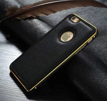 Luxury Leather Case Aluminum Bumper Cover - Art Beauty Fashion